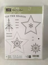 MANY MERRY STARS Stampin Up New Christmas Snowflake Peace Celebrate To From