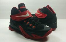 Nike Zoom Lebron James Soldier 8 Black/Red Velcro Basketball - Size 6Y