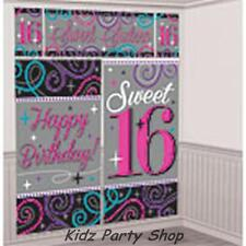 16th Sweet Birthday Party - 5ft SCENE SETTER WALL DECORATION - Free Post in UK