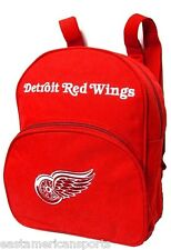 Detroit Red Wings NHL Mini Book Bag Back Pack Gym School Sport Case Kid Adult