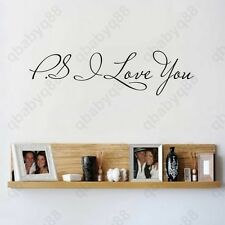 PS I love you Wall Quotes decal Removable stickers decor Vinyl home art-small