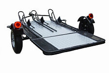 Folding Dual Rail or 3 Rail Motorcycle Trailer - Drop the price not the tail