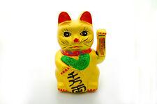 Große Winkekatze 22 cm - Keramik Glücksbringer , Maneki Neko China Asia-Deko