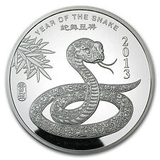 5 oz Year of the Snake Silver Round - SKU #71912