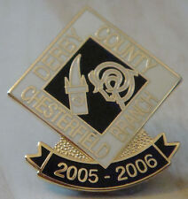 DERBY COUNTY Official 2005-06 CHESTERFIELD BRANCH SUPPORTERS CLUB 23mm x 26mm