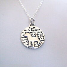 Dog Charm Necklace - 950 Sterling Silver - Handmade - Inspirational *NEW* Puppy