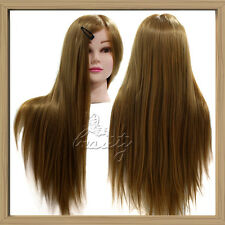 "24"" 50% Real Human Hair Salon Hairdressing Cutting Mannequin Training Doll Head"