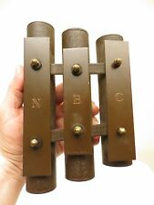 VINTAGE 1930s OLD RADIO TELEVISION 3 TUBE NBC CHIMES & STRIKING MALLET & WORKS