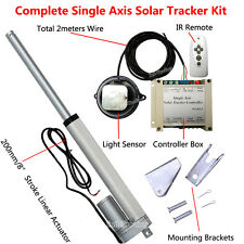 "Single Axis Solar Tracking Tracker -8"" Linear Actuator &Controller for Sun Track"