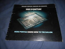1981 Pontiac Firebird Trans Am Grand Prix Full line Color Brochure Prospekt