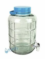 3 Gallon Glass Water Bottle w/ Faucet Carboy Canteen Jug Container Jar Dispenser