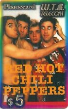 RARE / CARTE TELEPHONIQUE - RED HOT CHILI PEPPERS / PHONECARD LIMITED EDITION