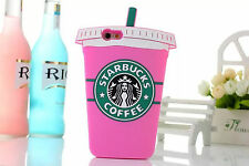 3D Cool Summer Drinks Silicone Gel TPU Back Rubber Cover Case For iPhone Samsung