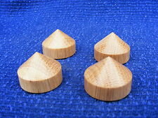 4 Oak cone feet 38mm dia  for Hi Fi  / stereo equipment