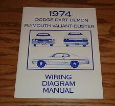 1974 Dodge Dart-Demon Plymouth Valiant-Duster Wiring Diagram Manual 74