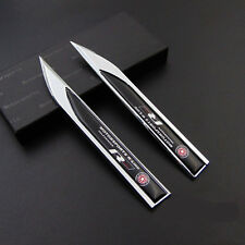 Metal R-Line Car Emblem Side badge Knife Car Sticker for Fit for VOLKSWAGEN