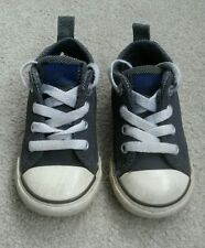Grey blue Child's boys girls leather All star Converse trainers Size 5 EU 21