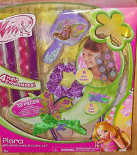 Winx Club FLORA Believix HAIR STYLING SET Extensions Headband NEW20 Pc Dress-Up