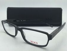New TUMI Eyeglasses T 308 55-17 140 Black Rectangular Frames w/ Clear Lenses