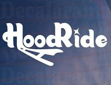 HOODRIDE Novelty Car/Van/Window/Bumper Vinyl Sticker/Decal