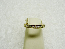 10K YELLOW GOLD 12 CUBIC ZIRCONIA CHANNEL SET RING/BAND SIZE 5 3/4 NG23-O