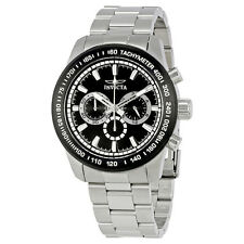 Invicta Speedway Chronograph Black Dial Stainless Steel Mens Watch 21796