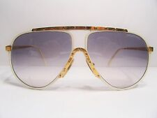 Alpina M1 small white gold Vintage Sunglasses aviator vtg 60--12 vtg Germany