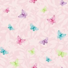 New Rasch Jardin Glitter Butterfly Motif Wallpaper 204414