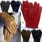 New Women's Genuine Leather Gloves Insulated Winter Warm Driving Gloves
