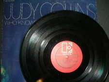 """Folk LP Judy Collins """"Who Knows Where Time Goes"""" Elektra VG 1968"""