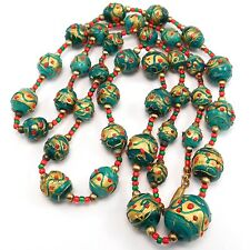 EARLY VENETIAN WEDDING CAKE BEADS PEACOCK COLOR