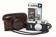 Canon P 35mm Rangefinder Film Camera, Case, Book. Excellent Condition #768797