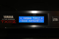 NEW BLUE LCD display for Yamaha TX81Z FM Rack Synth DIY Replacement Repair Mod