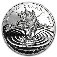 2015 Canada 1 oz Silver $20 Proof Maple Leaf Reflection - SKU #90597