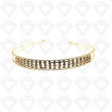 Wedding Head Piece Hair Band Prom Bridal Rhinestone Diamante Headband new UK