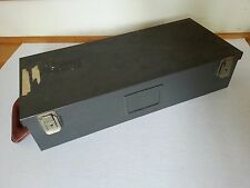 VTG Wright Line industrial steel file card catalog, machine age index card file