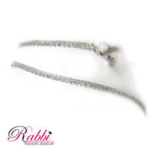 Rabbi silver plated  anklet (payal) with white stone latest fashion
