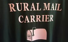 USPS RURAL MAIL CARRIER BLACK T SHIRT/ PINK LETTERING- NEW 2XL