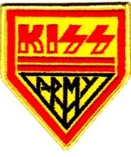 KISS ARMY VINTAGE IRON OR SEW ON EMBROIDERED PATCH  NO LONGER MADE. 80's patch