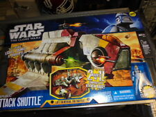 GUNSHIP~ CLONE REPUBLIC ATTACK SHUTTLE~ Star Wars~Clone Wars~MISB~HUGE SHIP~2011