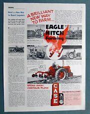 Original 1952 Case Tractor Ad BRILLIANT NEW WAY TO FARM EAGLE HITCH