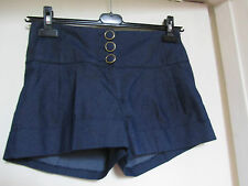 Blue Denim Look New Look Hot Pants / Shorts in Size 8 - NWOT