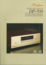Accuphase dp-700 Catalogo Prospetto Catalogue datasheet brochure