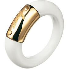 NEW DOLCE & GABBANA D&G DJ0745 WHITE/GOLD FASHIONABLE STYLISH RING SIZE 7.25 !!