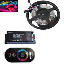 5M RGB 5050 30Leds/M Non-Waterproof Led Strip+12V 18A RF Touching Remote Control