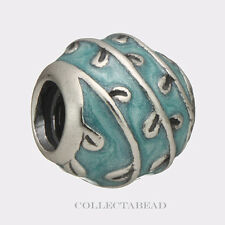 Authentic Pandora Sterling Silver Enamel Light Blue Vines Bead 790525EN18