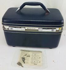 Samsonite Profile II Train / Travel / Makeup Case with Tray navy & 2 keys