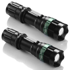 2X 10000 Lumen Zoomable CREE XML T6 LED Flashlight Torch Tactical Light Aluminum