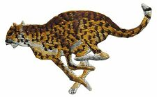 #2992 Wild Animal Running Leopard Embroidery Iron On Applique Patch