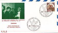 FDC BUSTA PRIMO GIORNO EMISSIONE PAPA GIOVANNI PAOLO II A VENEGONO 1983  C6-533